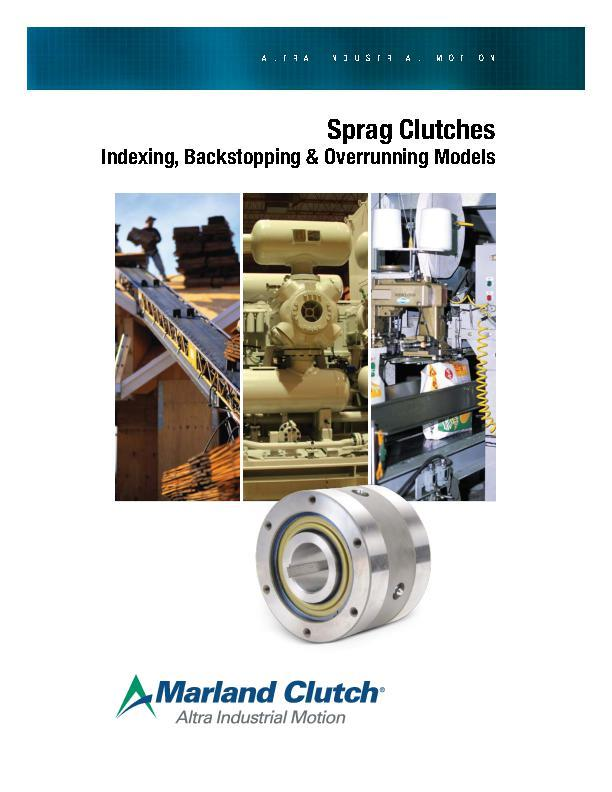 Sprag Clutches Indexing, Backstopping & Overrunning Models